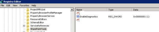 enable diagnostics logging for SharePoint projects